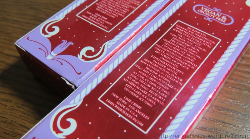 Lime Crime Velvetines Packaging - BACK